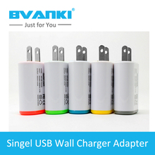 [Bvanki]10Pcs/Lot China Factory Egg Roll Shape 1A Singel Port Usb US Plus Wall Charger Adapter Colorful External qi Home Charger