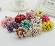 10pcs berry stamens fake flower cheap artificial flowers for home brides wedding car decor handicraft DIY Gift box head wreaths(China)