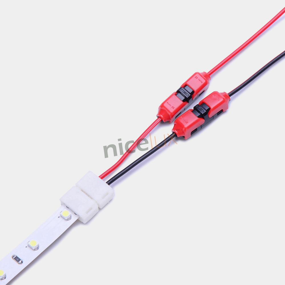 10pcs Quick Splice Wire Wiring Connector for AWG22-18 1-2pin LED Strip Wire Cable Electrical Crimp Terminal Blocks Conductor