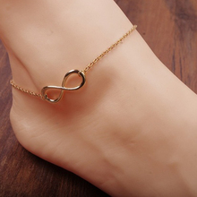 Simple Gold/Silver Alloy 8 Shape Design Foot Feet Ankle Chain Anklet Bracelet Women Girl Charm Fashion Summer Jewelry