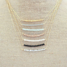 N16050301 Simple Necklace, Bead Bar Necklace, Crystal Necklace, Crystal Swing Necklace