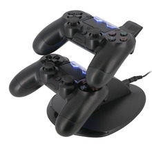 Free Shipping PS4 Accessories Joystick PS4 Charger Play Station 4 Dual Micro USB Charging Station Stand for SONY PS4 Controller(China)