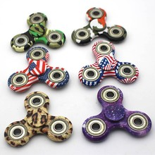 2017 Camouflage Pattern Fidget Spinner High Quality Bearing Colors Shipped Randomly Anti Stress Gift T