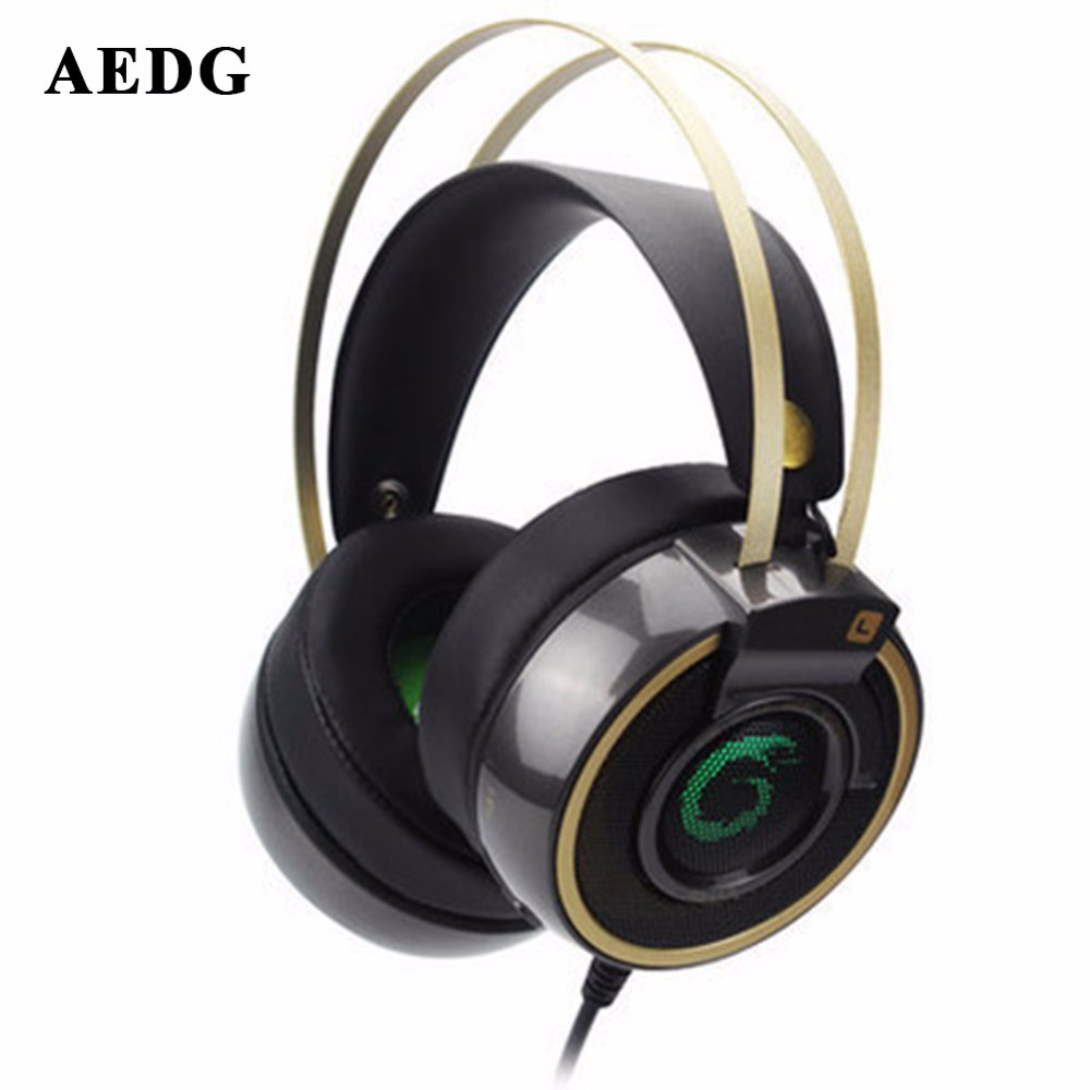 Gamekoptelefoo Wired Gaming Headset Deep Bass Game Earphone Computer Headphones With Microphone Led Light Headphone For Computer(China (Mainland))