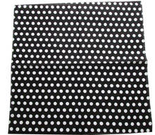 Free Shipping 2017 New Hip Hop Cotton Black White Polka Dot  Bandanas/ Hair Band Scarf Mens Womens