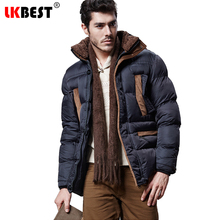 LKBEST 2017 Winter men's jacket cotton Hooded warm winter coats men fashion long men parka thick overcoat brand clothing (PW611)