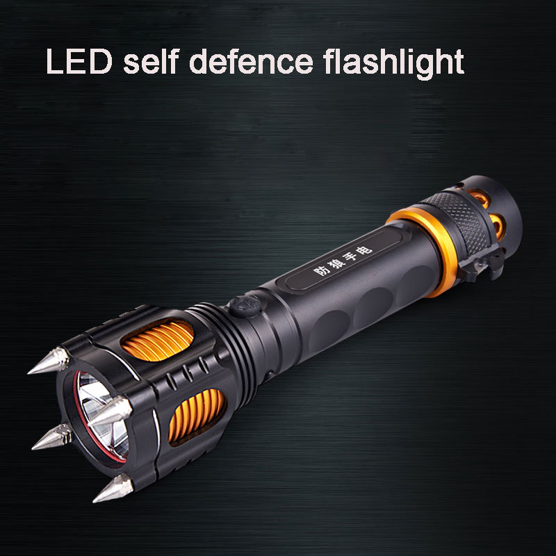 flashlight 18650 5-Mode cree-xm-l t6 self defense led glare Multi-functional rechargeable torche flashlights <br><br>Aliexpress