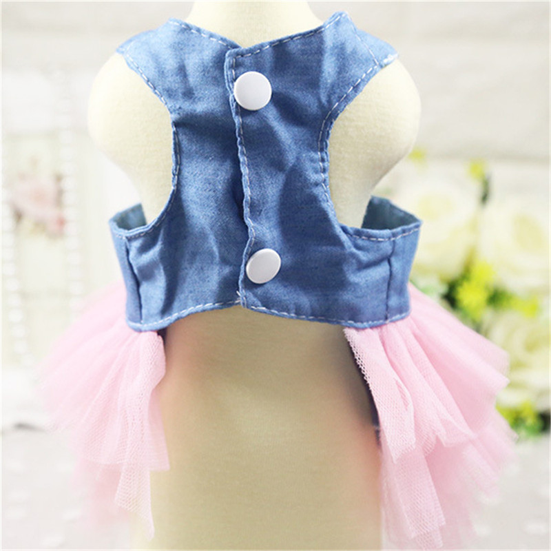 Summer Dog Dress Pet Dog Clothes for Small Dog Wedding Dress Skirt Puppy Clothing Spring Fashion Jean Pet Clothes06