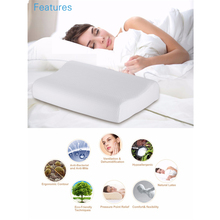Talalay 100% Ventilated Natural Latex Pillow Contoured Shape High Loft Medium Firm Zero Stress Healthy Memory Pillow(China)