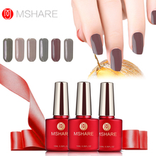 MSHARE Nude Gel Nail Polish Beige UV gel for LED Lamp Black GelLak Soak Off Gelpolish Brown Coffee Series Colors Gel Varnish(China)