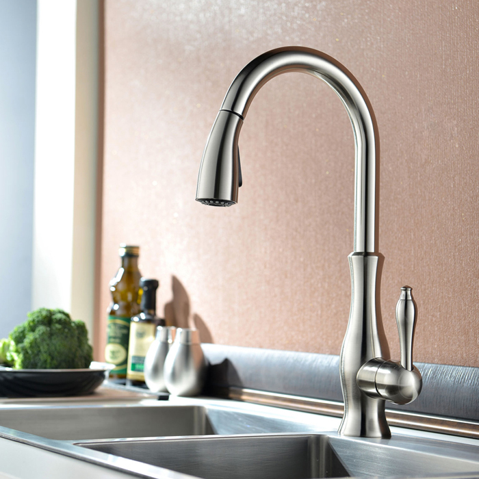 GOLD PULL OUT KITCHEN FAUCET (17)