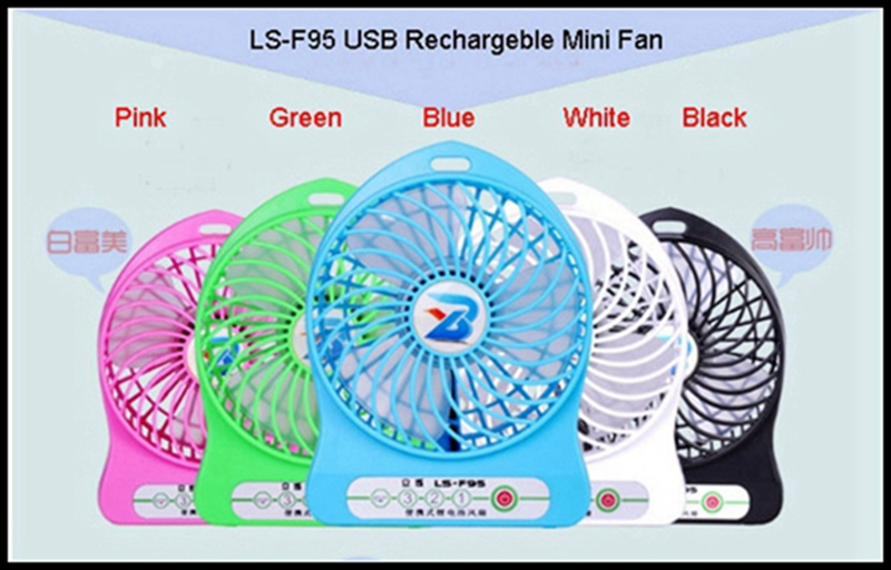 LISHUO USB rechargeble Mini Fan 3