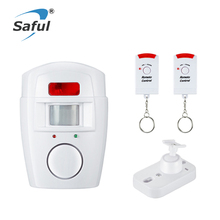 Home Security Alarm System Infrared Sensor Anti-theft Motion Detector Alarm Monitor Wireless Alarm System+2 Remote Controllers(China)