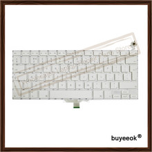 "Original White Laptop UK Keyboard Replacement for Apple Macbook 13.3"" A1181 UK Layout Keyboard without Backlight"