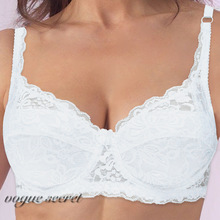 VOGUESECRET Women Lace Embroidery Bra Sexy Lingerie 32 34 36 38 40 42 44 Size A B C D E F Cup Free Shipping