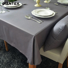 GIANTEX European Style Gray Decorative Table Cloth Cotton Tablecloth Dining Table Cover For Kitchen Home Decor U1192(China)