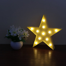 New Led Night light baby kids bedroom Energy Saving Night Lamp Popular Wall Decoration Lights Battery Operated LED Marquee Sign