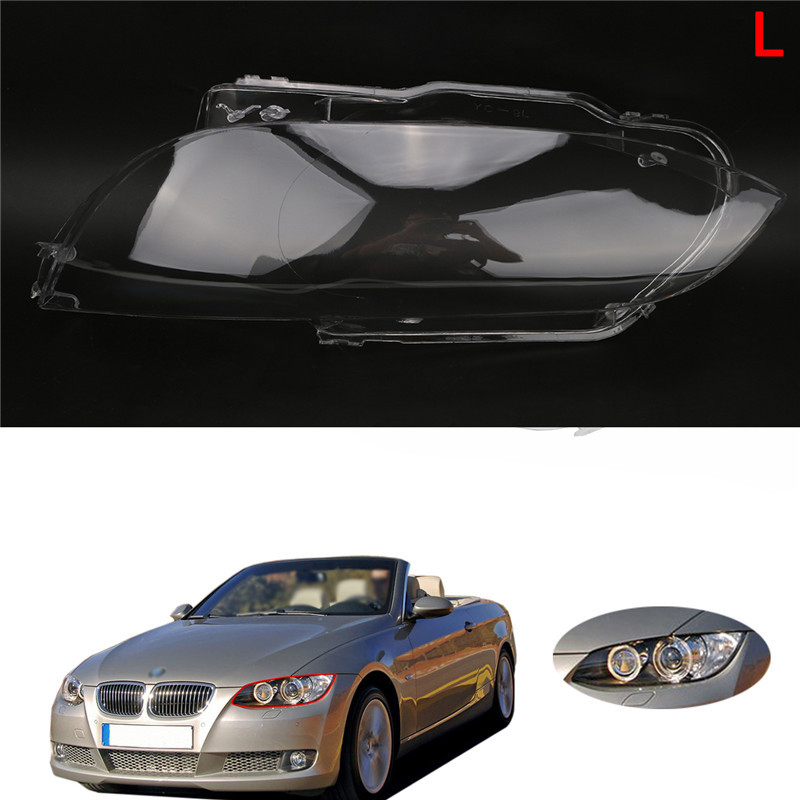 WISENGEAR 3 Series Left LED Head Light Lamp Cover Shell For BMW E92 Coupe E93 Convertible M3 2 Door Clear Lens 2006 2007 - 2010 (23)