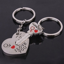 New llavero Pareja Porte Clef Casual Chaveiro Couple I LOVE YOU Heart Car Keychain Keyring Key Chain Lover Novelty Souvenirs