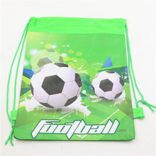 boys kids sport soccer/football green school bag birthday party non-woven fabrics backpacks mochila infantil