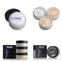 Makeup Lasting Loose Waterproof Face Powder Setting Mineral Perfecting Finishing Foundation Matte Setting Powder with Puff