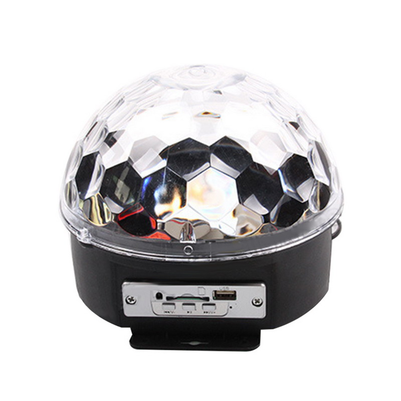 Newest Mini DJ Laser Stage Light MP3 IR Remote Digital RGB LED Crystal Magic Ball Hot Selling with good light-admitting quality<br>