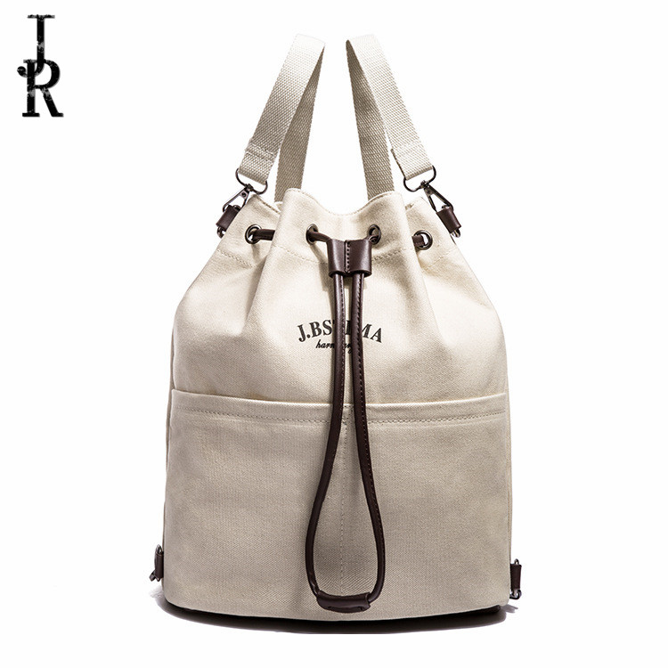 Hot Sale Korean Style Canvas Womens Shoulder Bag Fashion Casual bags Designer High Quality Large Capacity backpack Rope buckle<br><br>Aliexpress