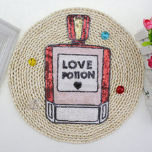 BT051 5Pcs/Lot New Arrival French Wholeale Fashion DIY Love Perfume bottle patch Sew on Cloth Free Shipping & Factory Price