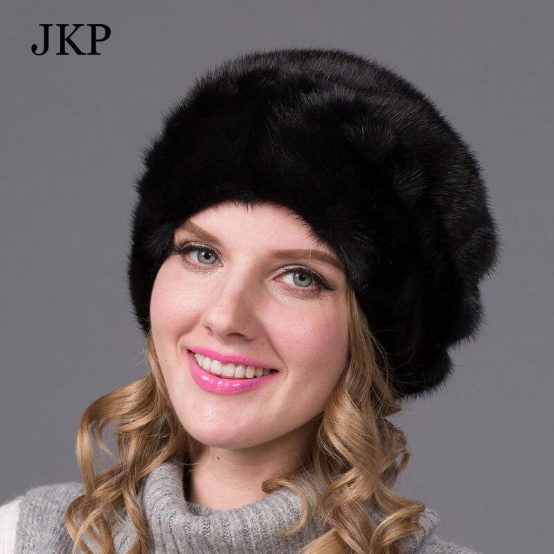 Genuine mink fur hat female winter all imported mink fur hat floral pattern in 2016 Russias high-end luxury women hatОдежда и ак�е��уары<br><br><br>Aliexpress