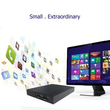 DT Mini PC Desktop Computer Windows 10 VX 8G DDR3L RAM 1*LAN WiFi Antennas USB 3.0 HDMI HD 1080P 19V 65W Fanless For home video