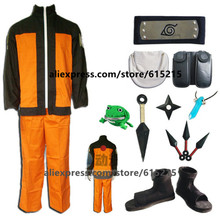 Anime Naruto Cosplay Uzumaki Naruto Costume Suit For Man(China)