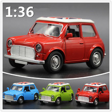 HOT sale 2016 present MINI car model pull back alloy model children electric toys light sound 1:36 model