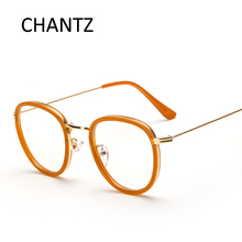 Retro Round Glasses Frame Women Men's Clear Lens Glasses Alloy PC Frame Reading Glasses Spectacles Optical Frame Marco de gafas(China)