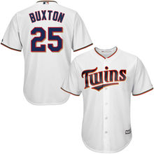 MLB Men's Minnesota Twins Byron Buxton Baseball White Home Cool Base Player Jersey(China)