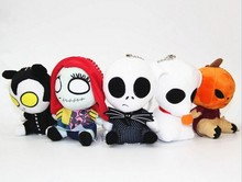 New Arrivals 10pcs The Nightmare Before Christmas Jack Sally Lock Shock Barrel Characters Plush Pendant Toy Stuffed Doll Figures(China)