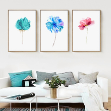 Modern Watercolor Beautiful Plant Floral Flower Rose A4 Canvas Art Print Nordic Posters Wall Picture Home Decor Painting OT017(China)