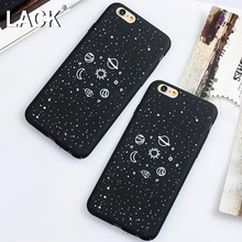 LACK Lovely Cartoon Airship Stars Case For iphone 6 Case For iphone 6S 7 7 Plus Phone Cases Cool Planet Moon Sun Universe Cover