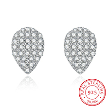 Jemmin Classic Simple Water Drop Pure Sterling Silver Diamond Stud Earrings For Women Wedding Jewelry Accessory Brincos(China)