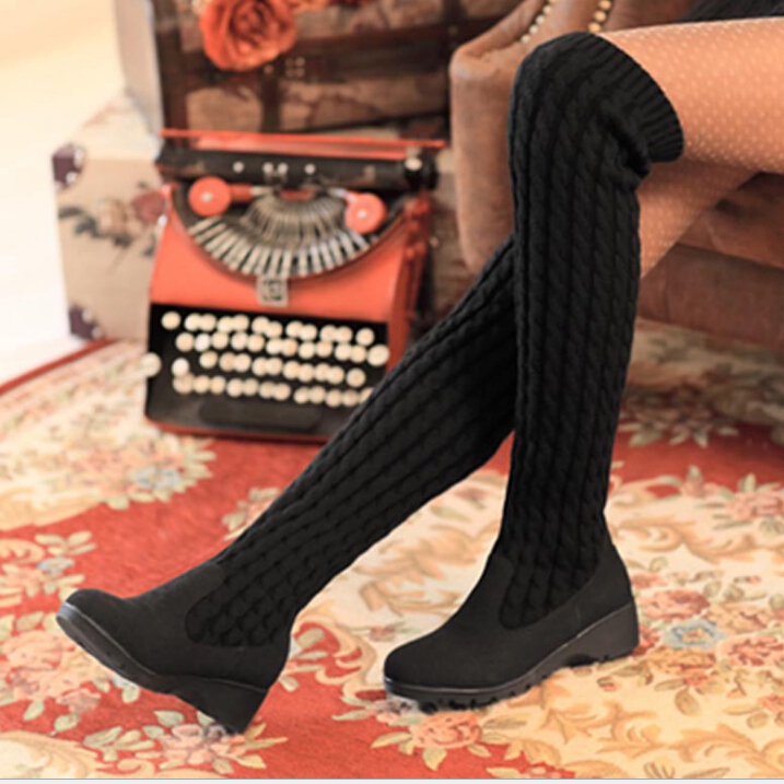 New arrival winter boots women over the knee high boots fashion design motorcycle boots warm snow shoes woman saj720<br><br>Aliexpress