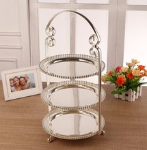 Modern wedding supplies cake stand tool cake stand  dessert tray crystal pendants cake pan rack wedding decoration DGJ0015