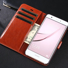 For Huawei nova case cover luxury leather flip Phone Bags for Huawei nova ultra thin Business wallet Phone Bags Case with Brown