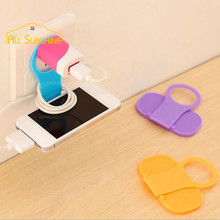Convenient Folding Mobile Phone MP3 Camera Charge Holder Wall Charger Hanger Charging Rack Shelf For iPhone For Samsung