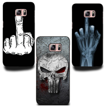 Hot Sale (Skull Heads and Middle finger) Phone Hard Plastic case cover For Samsung Galaxy S4 S5 MINI S6 S6 Edge