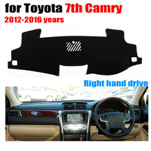 Car dashboard cover mat for TOYOTA 7th CAMRY 2012-2016 years Right hand drive dashmat pad dash mat covers dashboard accessories