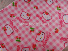 New arrival 150cm*150cm Hello Kitty 100% Cotton Fabric for Sewing Patchwork Bedding Fabric DIY Baby Cloth Textiles 15010327