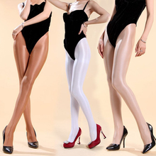 Buy 70D Pantyhose Super shiny Stockings sleek front crotch pantyhose sexy women transparent velvet solid tights