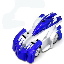 2016 Fun Kids Toys! Mini RC Wall Climber Car Remote Control Climbing Car Spiderman  Zero Gravity RC Electric Radio Car Toy Gift