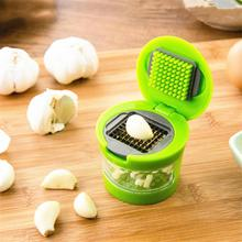 Practical Garlic Chopper Plastic Stainless Steel Garlic Press Multi Functional Ginger Mashing Machine Kitchen Tools
