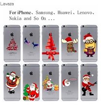 Lavaza New Arrival Christmas gift Hard Transparent Case Cover for iPhone 7 7 Plus 6 6S Plus 5 5S SE 5C 4 4S(China)
