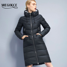 2017 Miegofce New Winter Women's Jacket coat Simple Women Parkas Warm Winter Women's Coat High-quality Biological-Down Parkas(China)